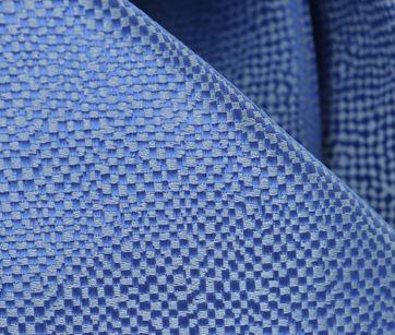 Detail Stropdas Zijde Middenblauw