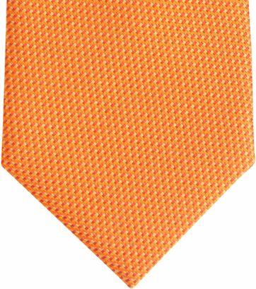 Stropdas Zijde Oranje