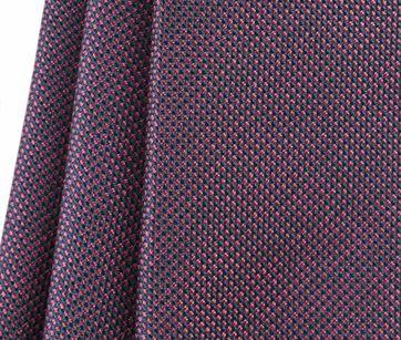 Detail Stropdas Zijde Pinpoint Bordeaux 9-17