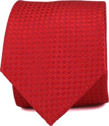 Stropdas Zijde Rood Patroon K82-12
