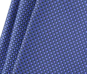 Detail Stropdas Zijde Ruit Blauw 9-17