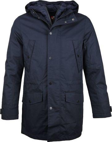 Suitable 2 in 1 Winterjas Waxed look Donkerblauw