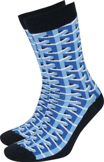 Suitable 3D Pattern Socken Blau