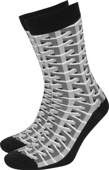 Suitable 3D Pattern Socken Grau