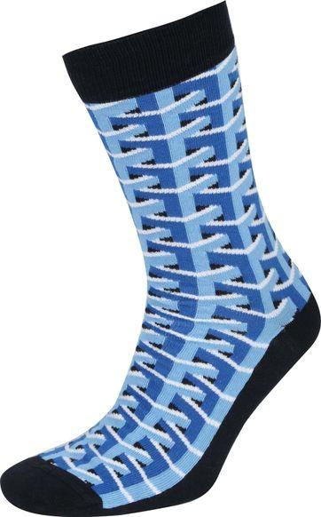 Suitable 3D Pattern Socks Blue