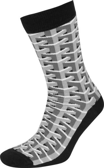 Suitable 3D Pattern Socks Grey
