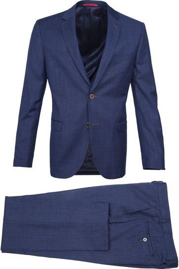Suitable Anzug Lucius Elos Blau