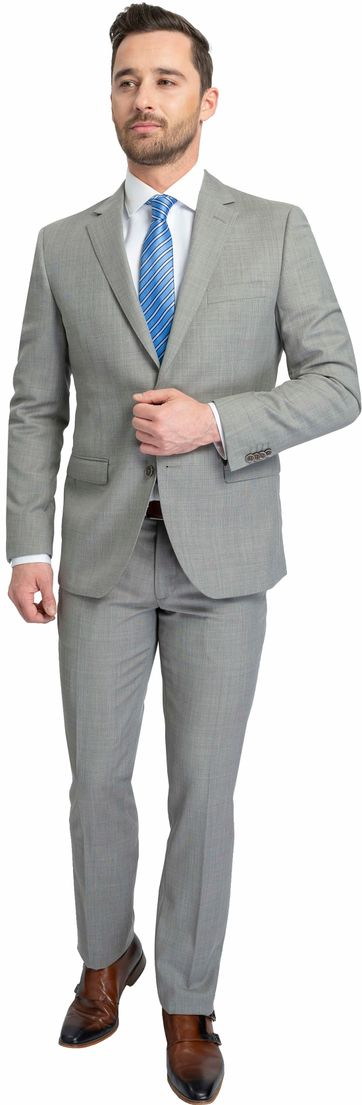 Suitable Anzug Lucius Elos Grau