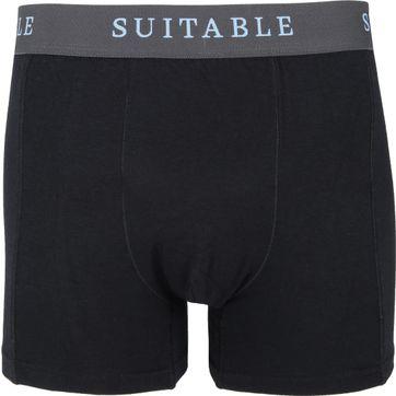 Suitable Bamboe Boxershorts 4-Pack Zwart
