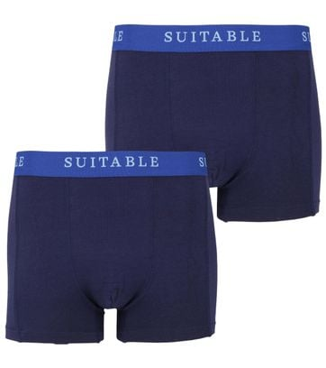 Suitable Bamboo Boxershorts 2-Pack Navy