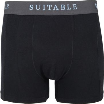 Suitable Bamboo Boxershorts 2er-Pack Schwarz