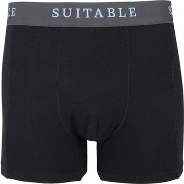 Suitable Bamboo Boxershorts 4-Pack Black