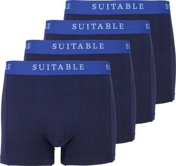 Suitable Bamboo Boxershorts 4er-Pack Dunkelblau