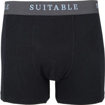 Suitable Bamboo Boxershorts 4er-Pack Schwarz