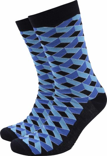 Suitable Bamboo Socks 3D Blue