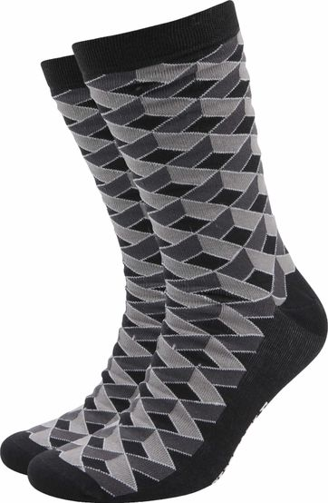 Suitable Bamboo Socks 3D Grey