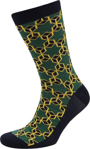 Suitable Bamboo Socks Star Dark Green