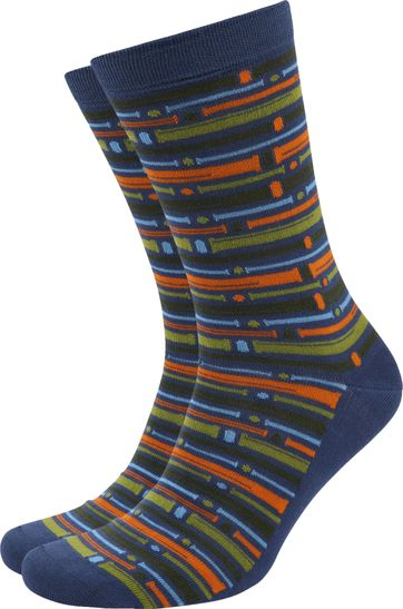 Suitable Bambus Pattern Socken Multicolour