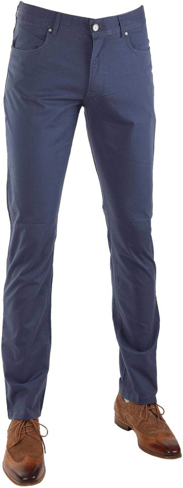 Suitable Barrie Broek Donkerblauw