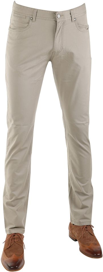 Suitable Barrie Broek Khaki