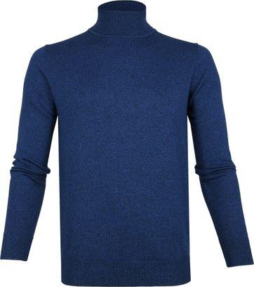 Suitable Baumwolle Kenjio Rollkragenpullover Blau