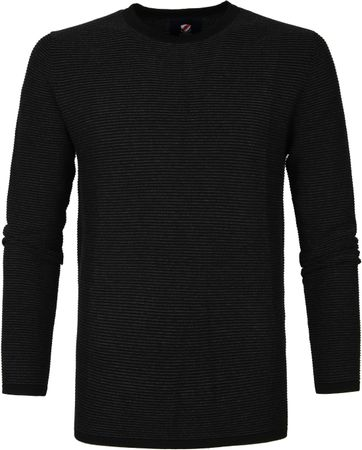 Suitable Baumwolle Leo Pullover Schwarz