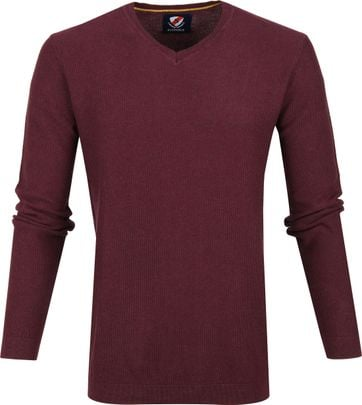 Suitable Baumwolle Neil Pullover Bordeaux