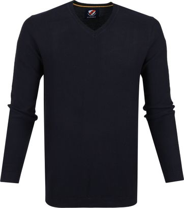 Suitable Baumwolle Neil Pullover Dunkelblau