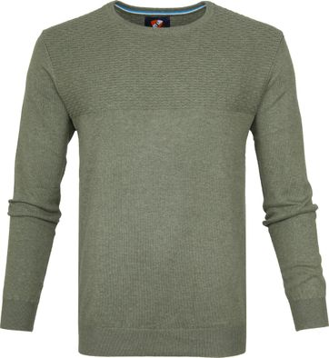 Suitable Baumwolle Pullover Brick Dunkelgrün