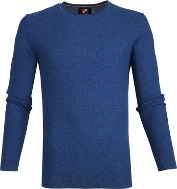 Suitable Baumwolle Pullover Hong R-neck Blau