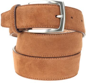 Suitable Belt Suede Cognac 307