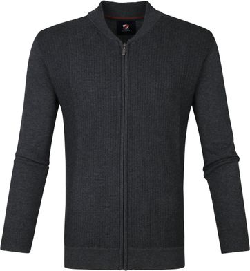 Suitable Bill Cardigan Dark Grey