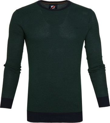 Suitable Bince Pullover Donkergroen