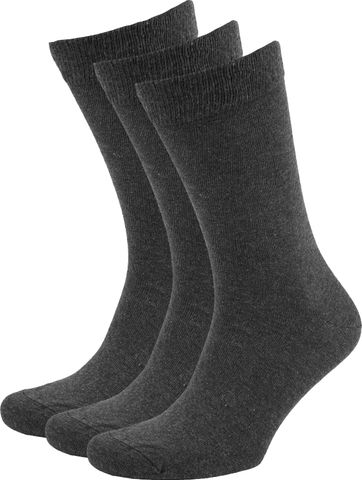 Suitable Bio-Baumwolle Socken Dunkelgrau 3-Pack