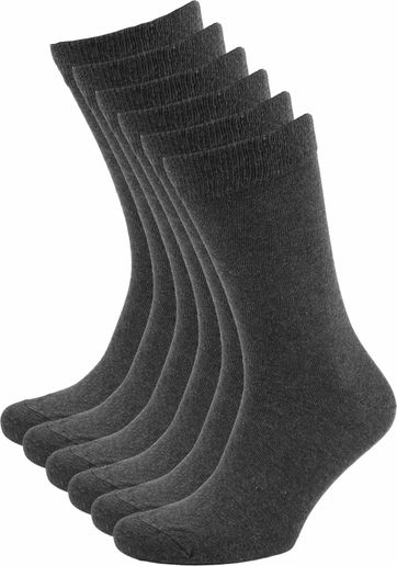 Suitable Bio-Baumwolle Socken Dunkelgrau 6-Pack