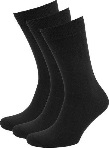 Suitable Bio-Baumwolle Socken Schwarz 3-Pack