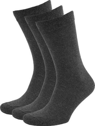 Suitable Bio Cotton Socks Dark Grey 3-Pack