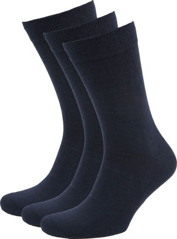 Suitable Bio Cotton Socks Navy 3-Pack