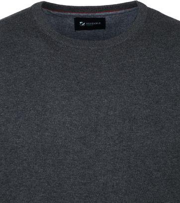 Suitable Biologischer Baumwolle Respect Sweater Rince Dunkelgrau