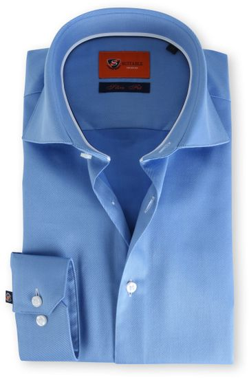 Suitable Blauw Overhemd Slim Fit DR-02
