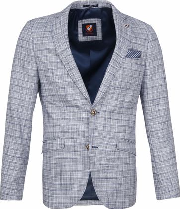 Suitable Blazer Adami Blauw
