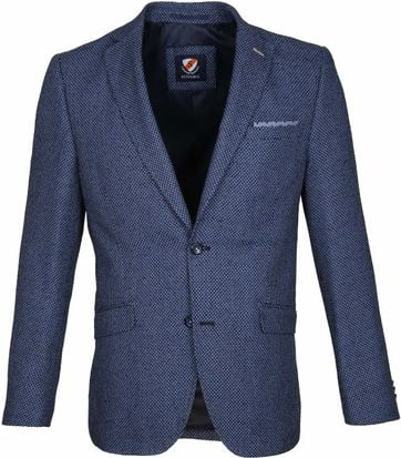 Suitable Blazer Art Dessin Navy