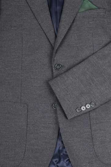 Suitable Blazer Flannel Grijs