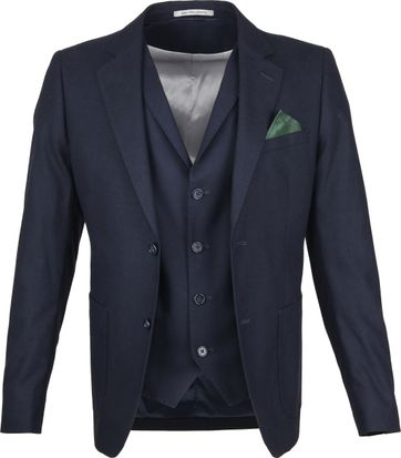 Suitable Blazer & Gilet Flannel Navy