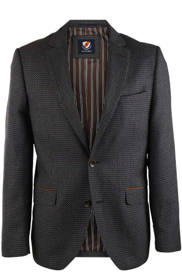 Suitable Blazer Ladis Navy + Brown