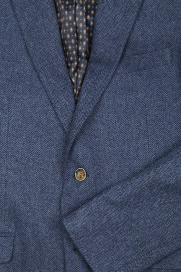 Suitable Blazer Nibe Blau Herringbone