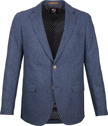 Suitable Blazer Nibe Blue Herringbone