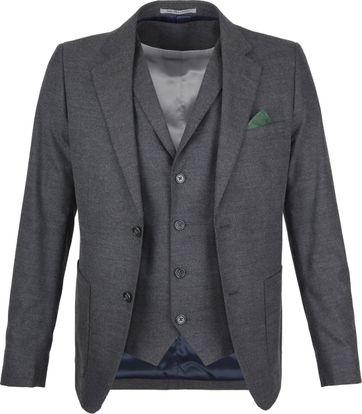 Suitable Blazer & Waistcoat Flanell Grey