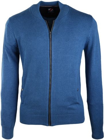 Suitable Bomber Cardigan Blauw