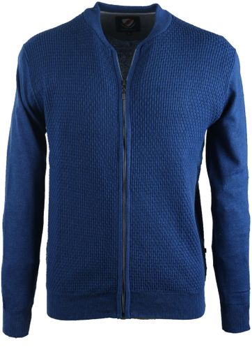 Suitable Bomber Cardigan Royal Blue